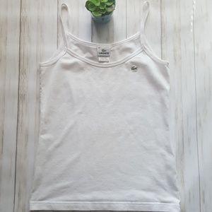 Lacoste pique white tank top size S/M